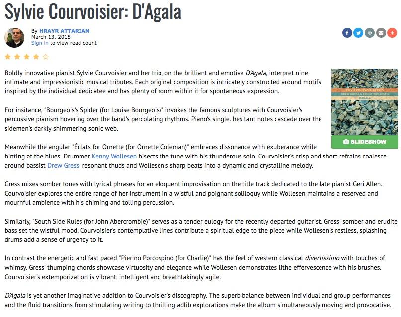 Reviews Sylvie Courvoisier Trio Intakt Cd 300
