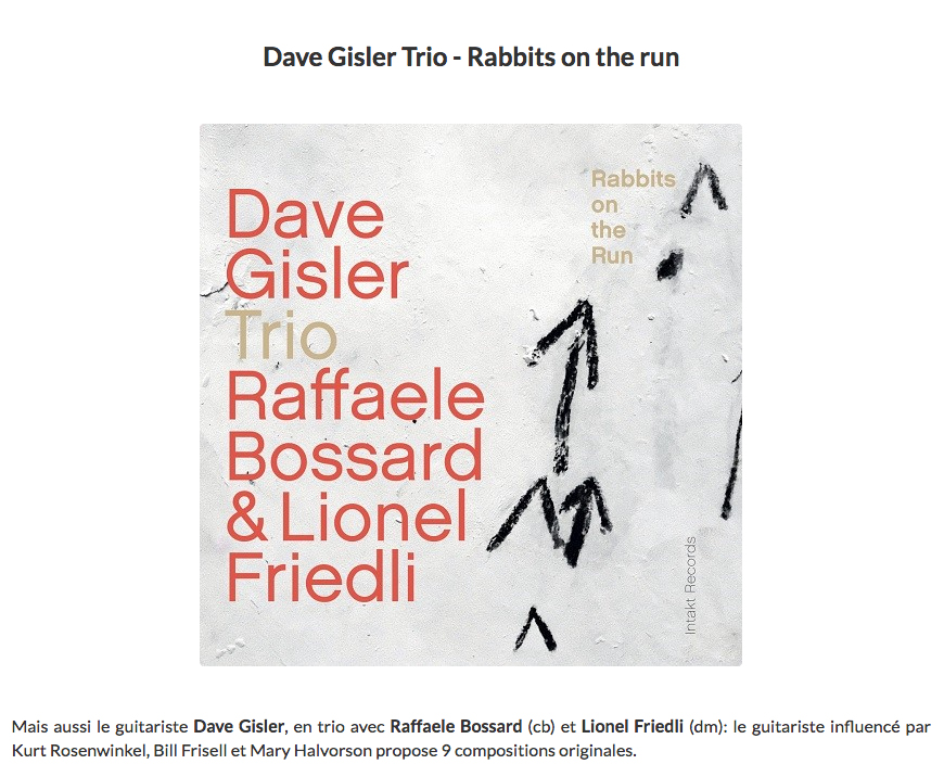 jazz halo reviews dave gisler trio