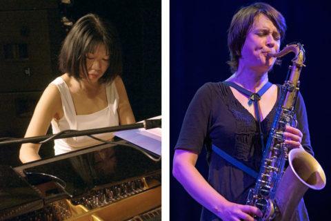 Aki Takase (by Manfred Rinderspacher), Ingrid Laubrock (by Cees van de Ven)