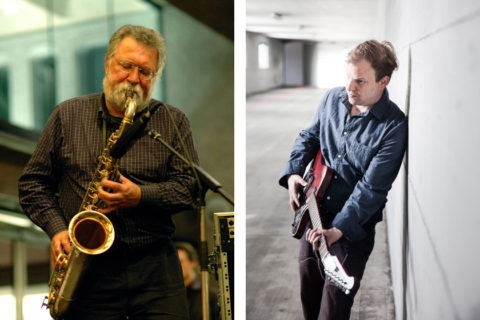 Evan Parker (by Richard Kaby, cc-by-sa-2.0) and Florian Stoffner (by Dieter Seeger)